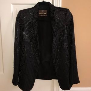 Roberto Cavalli Black Beaded Blazer